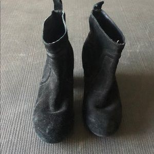 Joe's black suede ankle booties size 6